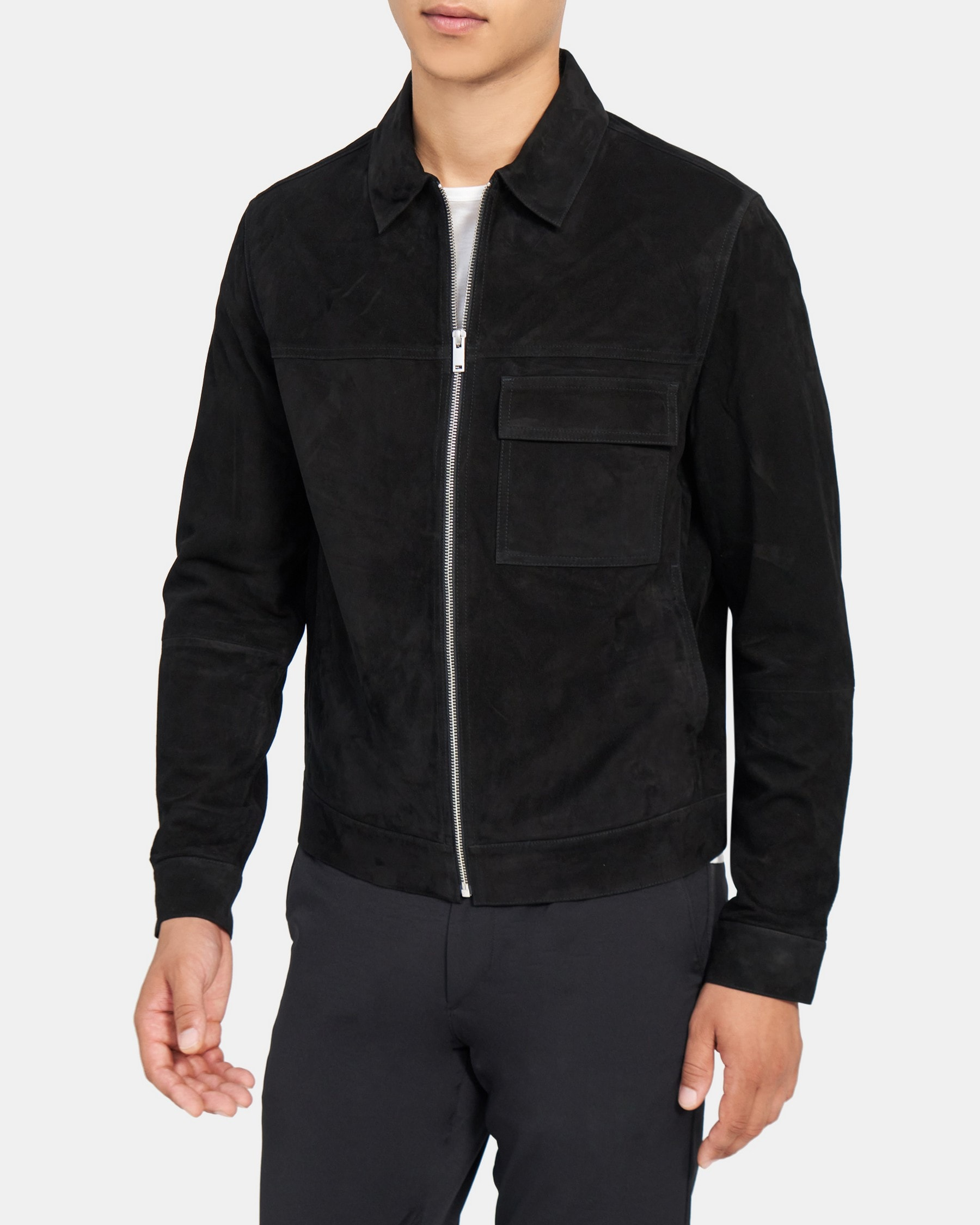 Theory Zip Jacket in Suede