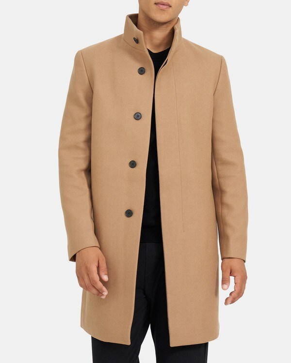 띠어리 맨 싱글 코트 Theory Single-Breasted Coat in Wool Menton,CAMEL