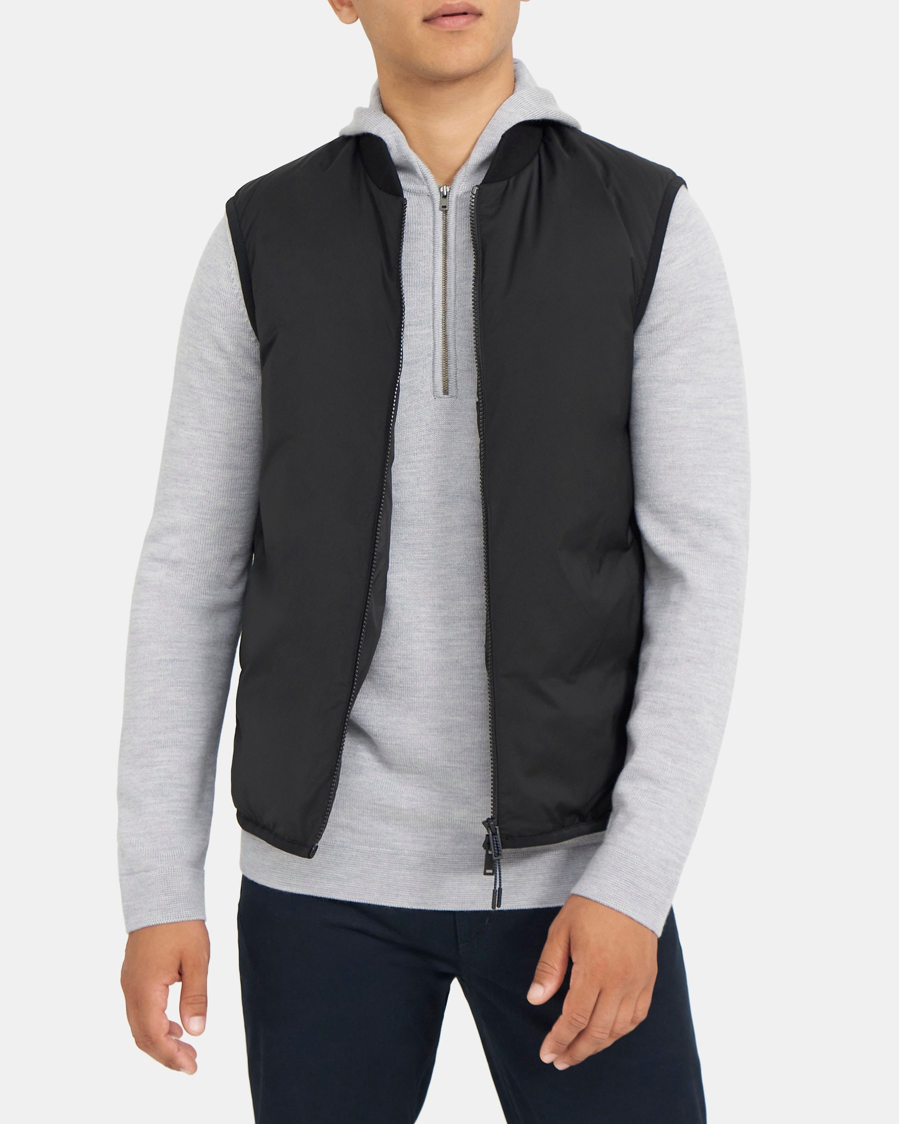 Theory Puffer Vest in City Shell
