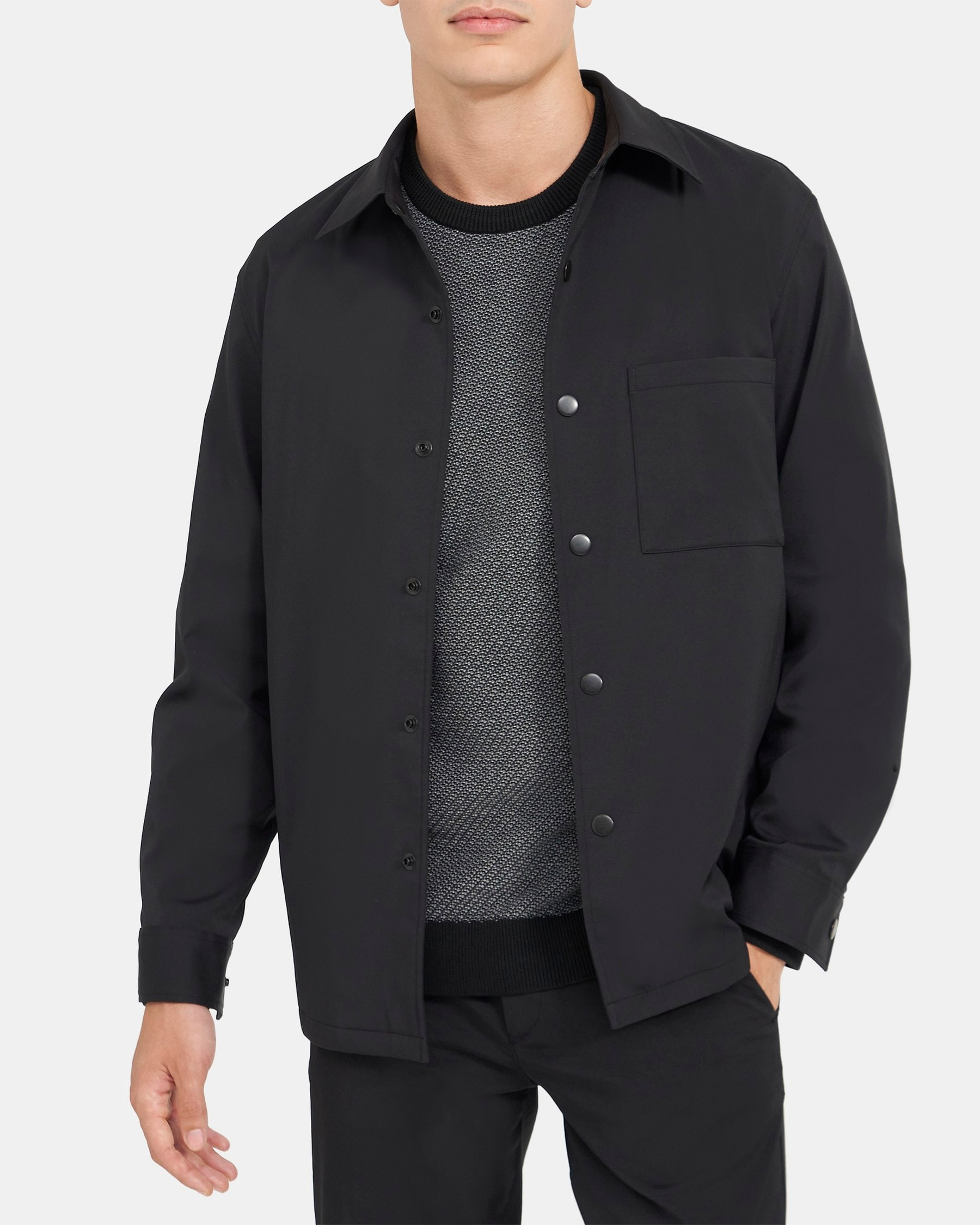 Theory Shirt Jacket in Ascend Tech