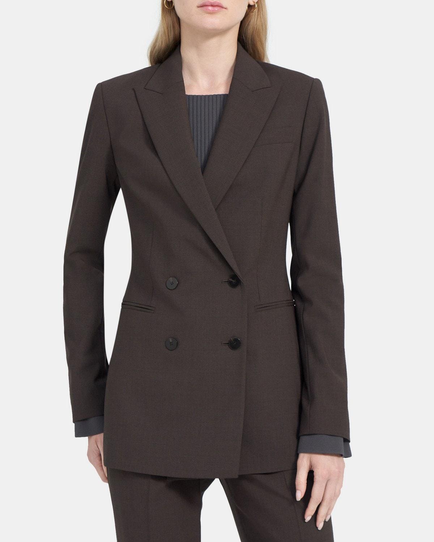 띠어리 파워 자켓 Theory Power Jacket in Stretch Wool,MOCHA