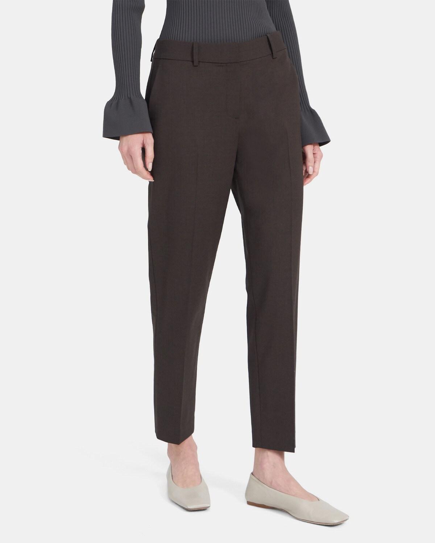 띠어리 우먼 클래식 크롭 팬츠 Theory Classic Crop Pant in Stretch Wool,MOCHA