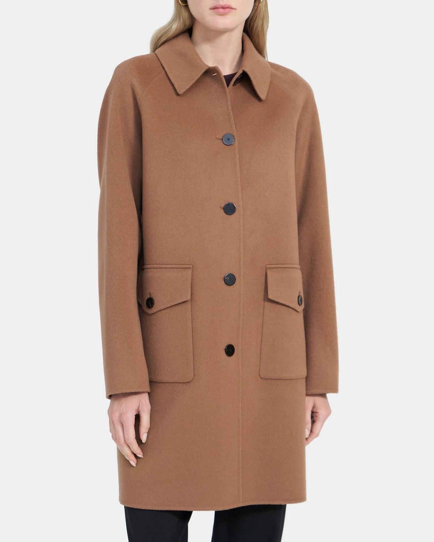 띠어리 우먼 릴렉스드 코트 Theory Relaxed Coat in Double-Face Wool-Cashmere,RUSSET