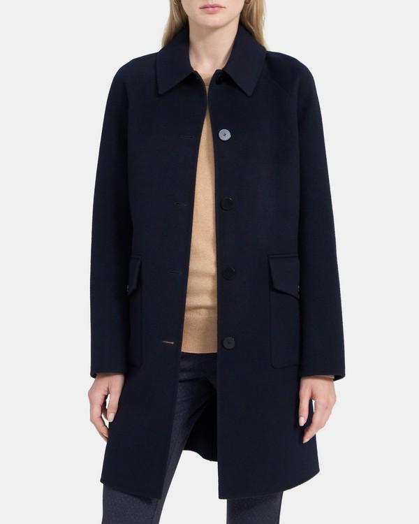 띠어리 우먼 릴렉스드 코트 Theory Relaxed Coat in Double-Face Wool-Cashmere,NOCTURNE NAVY