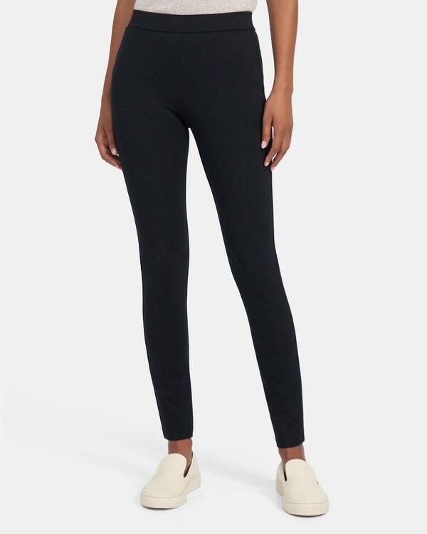 띠어리 우먼 레깅스 Theory Legging in Stretch Knit Ponte,BLACK