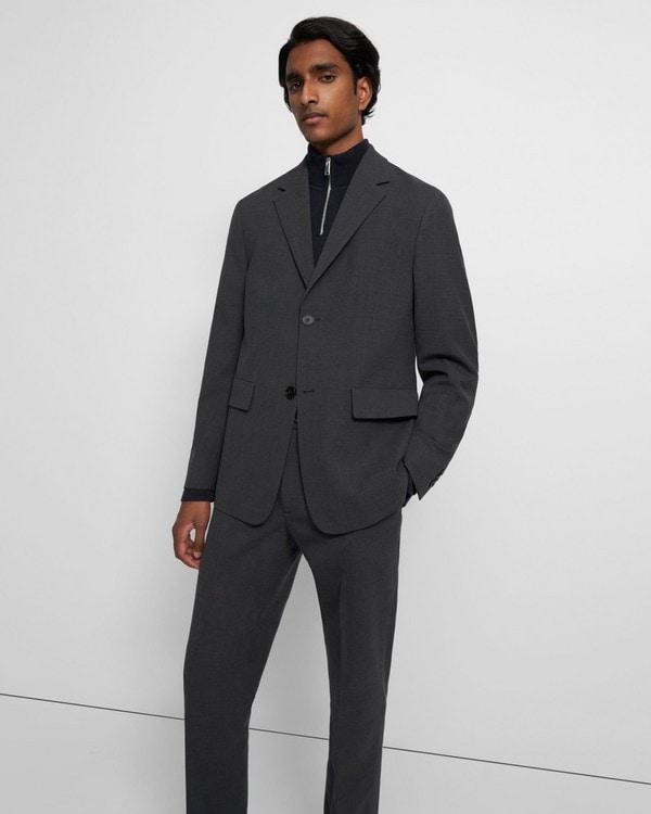 띠어리 맨 자켓, 본디드 울 트윌 Theory Blazer in Bonded Wool Twill,PESTLE MELANGE