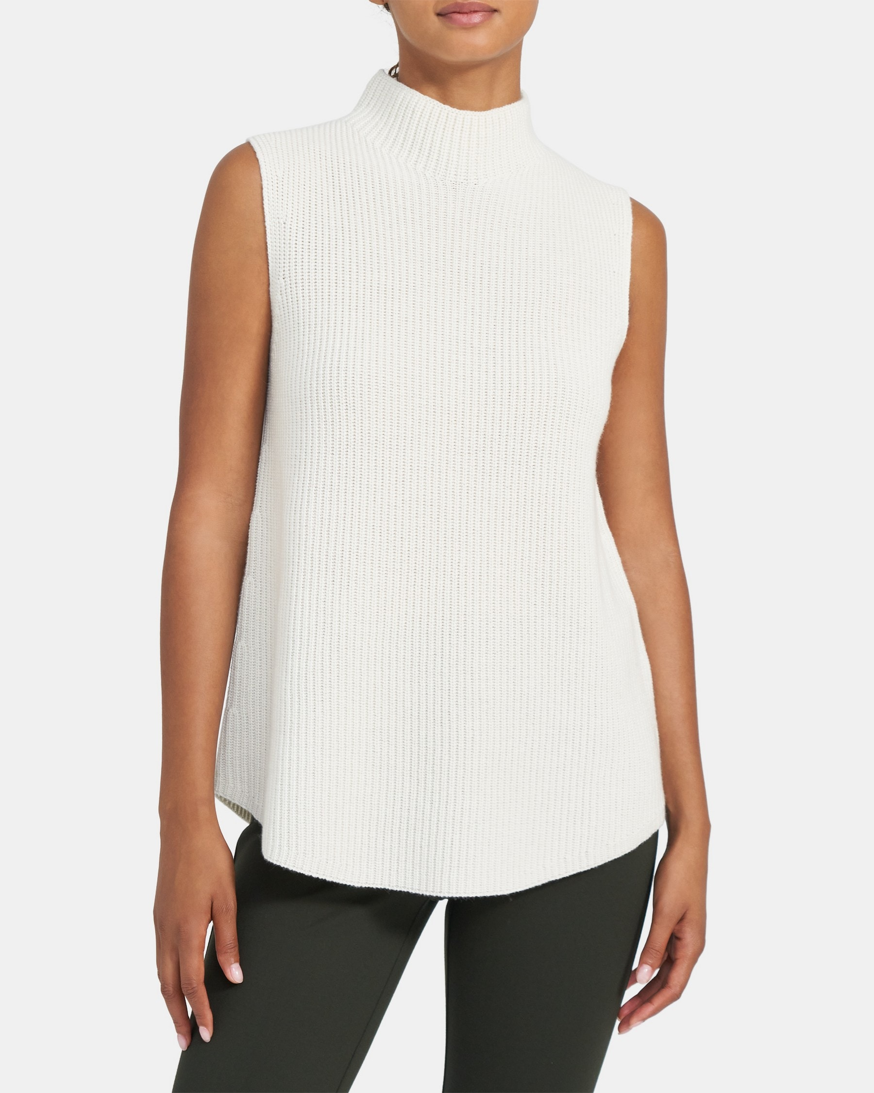 Theory Sleeveless Shell Cardigan in Cashmere